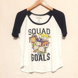 Nickelodeon Rugrats Squad Goals Raglan SS Shirt M